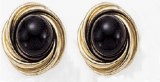 Onyx earringas 14kt yellow gold frame 15mm round