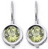 Peridot earrings 14kt white gold