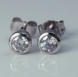 Diamond Stud Earrings 0.41cttw E VS2