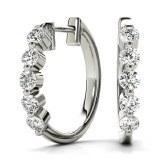 Diamond Hoop Earrings 0.50cttw E-F-G color VS clarity model 039-40664W-1/2CT