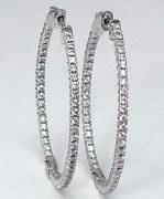 Diamond hoop earrings 1.00cttw 14ktw H SI2