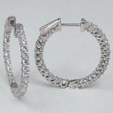 Diamond hoop earrings 1.50cttw 14kt white gold
