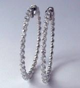 Diamond hoop earrings 1.33 cttw model 039-40920-A