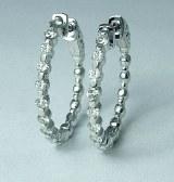 Diamond hoop earings 1.11cttw fg vs 14kt