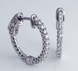 Diamond hoop earrings .51cttw FG VS 14kt