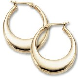 Hoop Earrings 14kt yellow gold