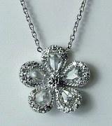 Diamond pendant 0.61cttw flower design model 040-YP3231A