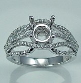 Diamond engagement ring 14ktw 0.36cttw 060-171928