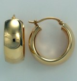Gold Hoop Earrings 14kt