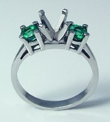 Diamond emerald ring platinum 0.55 cttw model 082-30-10021
