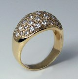 Diamond pave domed ring 14kt gold 1.30cttw model 082-40-10146
