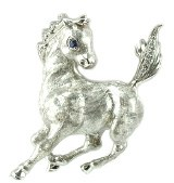 Horse Pin 14kt Diamonds