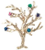 Mother's Pin Family Tree 14kty