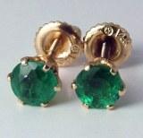 Emerald Earrings 14kt
