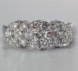 Diamond ring pave 14kt .75cttw H SI