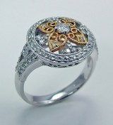 Diamond ring 18kt two tone .43cttw G VS2 model 139-1D420