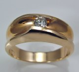 Diamond ring 14kty gold .20 ct round G VS2