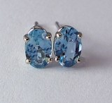 Aquamarine Earrings 6x4 0.75cttw 14kt model 144-1870-6x4-AQUA