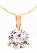 Diamond Pendant 0.75 carat H-SI2 14kt yellow gold 3 prong mounting model 144-23559-075Y