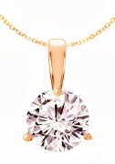 Diamond pendant 1.00 carat H-SI2 14kt yellow gold 3 prong mounting model 144-23559-100Y
