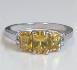Yellow Sapphire Ring 1.45cttw 14ktw gold model 144-71853S