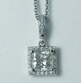 Diamond Pendant 14kt 1-3/8ct