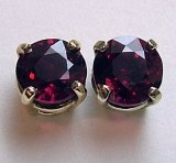 Ruby stud earrings .55cttw 14kt yellow gold