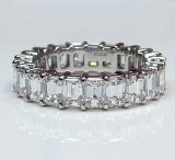 Diamond eternity band platinum 5.24 cttw model 18-2490