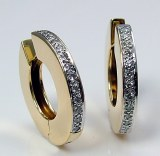 Diamond hoop earrings 14kty .26cttw G VS
