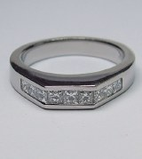 Diamond band pallidium 0.75cttw model 201207