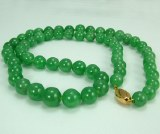 "Jade Neck 12mm 24"" 14kty GIA"
