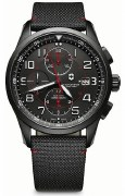 Victorinox Swiss Army Airboss Black Edition Watch 241721 45mm