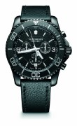 Victorinox Swiss Army 241786 black dial watch 43mm