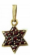 Star of David 14kty garnet model 247-0559