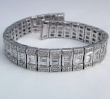 Diamond and platinum bracelet 9.78cttw F VS2