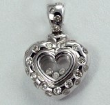Diamond Heart Pendant 0.70cttw