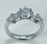 Diamond engagement ring platinum 0.46 carat G VS2