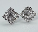 Diamond earrings 14ktw .56cttw F VS