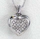 Diamond Heart Pendant 0.56cttw