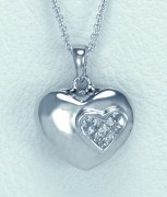 Diamond Heart Pendant 0.25cttw