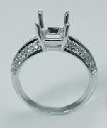 Diamond engagement ring semi mount 18kt .45cttw model 301-20304