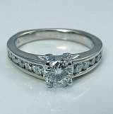 Diamond engagement 18ktw gold 1.07cttw F SI1-VS2