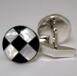 Silver Cuff Links Onyx SCL-709