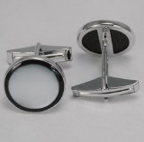 Silver Cuff Links Onyx SCL-781