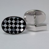 Silver Cuff Links Mop SCL-784