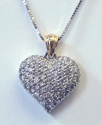 Diamond Heart Pendant 1.00cttw