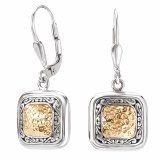 Eleganza Sterling Silver Earrings Gold Accent model 720291