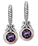 Eleganza Sterling Silver Amethyst Earrings 720392
