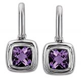 Eleganza Sterling Silver Amethyst Earrings 720414