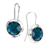Eleganza Sterling Blue Topaz Earrings 822756-BT